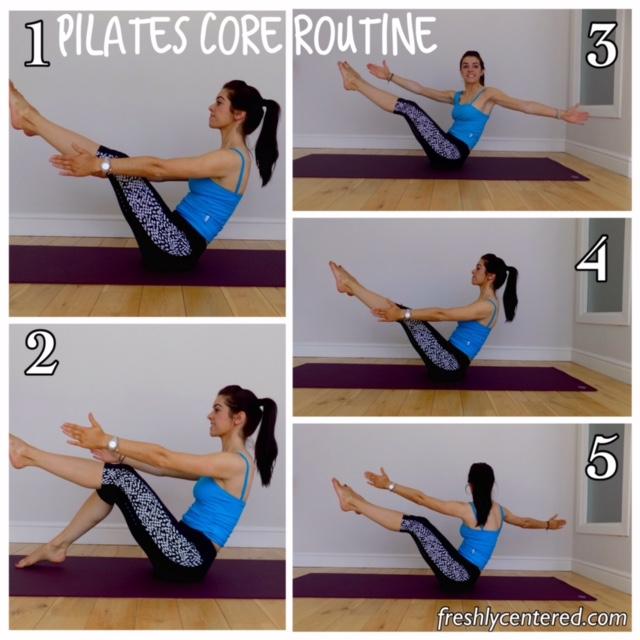 Pilates core routine