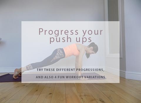 Progress your push ups