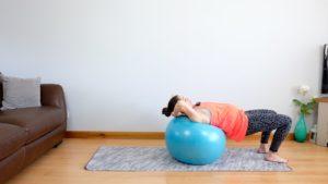 Bridge on ball pregnancy exercise